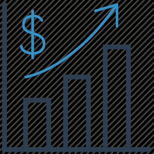 analytics, bar, chart, profit icon