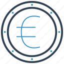 coin, euro, money icon