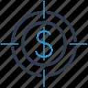 bullseye, crosshair, profit, target icon
