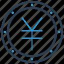 coin, yen, yuan icon