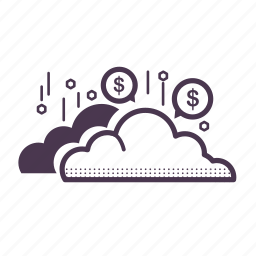 bubble, business, cloud, currency, finance, success icon