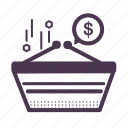 bag shopping, basket, cart, finance, payment, shopping bag icon