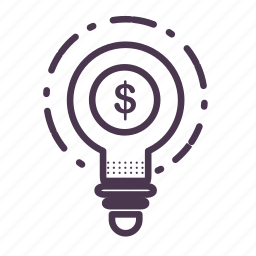 bulb, creative, finance, good, idea, lamp, think icon