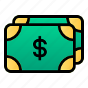 business, cash, dollar, finance, money, payment icon