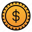 business, cash, coin, dollar, finance, money, payment icon