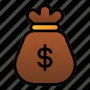 bag, business, deposit, dollar, finance, money icon