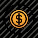 arrow, ballance, business, cash, finance, flow, money icon