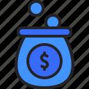 saving, money, bag, coin, bank