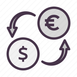 currency exchange, dollar, exchange, finance, money, remittance, transaction icon