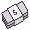 bills, cash, dollar, finance, financial, money icon