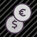 cash, coin, dollar, euro, finance, financial, money