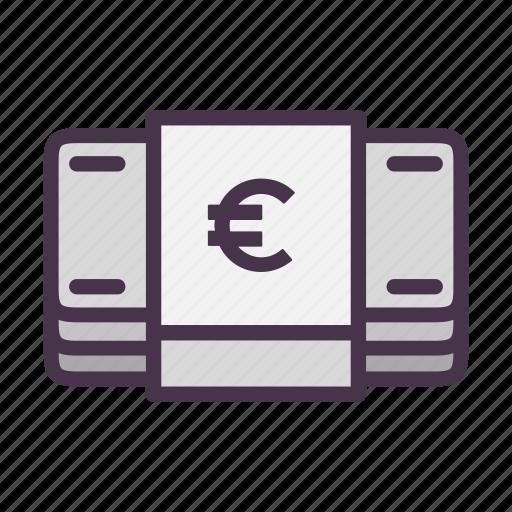bills, cash, euro, finance, financial, money icon