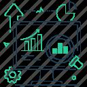 analytics, computer, diagrams, monitor
