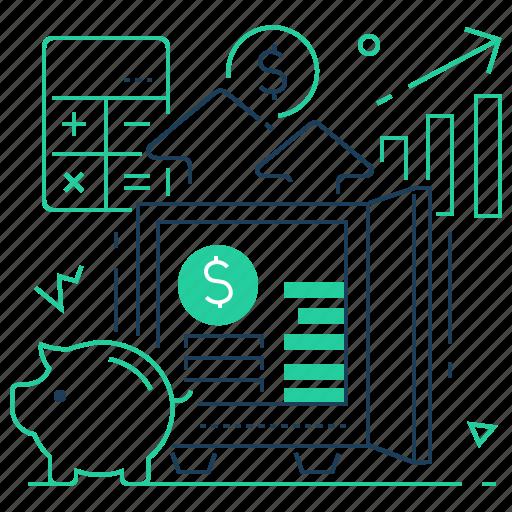Budget, deposit, finance, safe icon - Download on Iconfinder