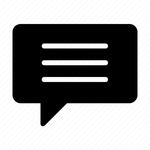 bubble, chat, dialog, speech, text icon