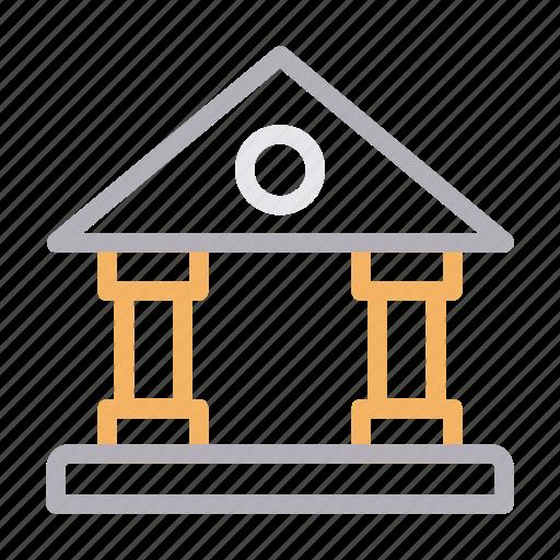 bank, building, court, finance, saving icon