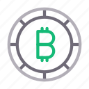 bitcoin, currency, finance, money, saving icon