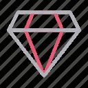 diamond, gem, performance, ruby, stone icon