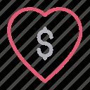 cash, dollar, favorite, finance, money icon