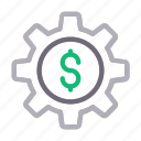 dollar, finance, money, preference, setting icon