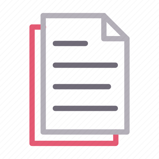 document, files, pages, paper, sheet icon