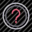 faq, finance, help, question, sign icon