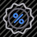 discount, offer, percent, sale, sticker icon