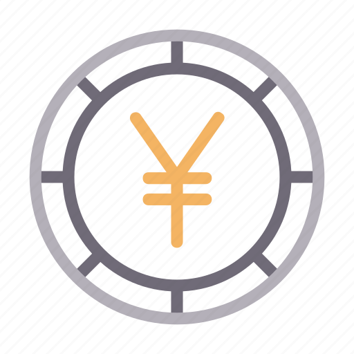 coin, currency, finance, money, yen icon