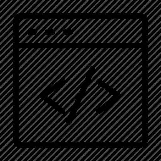 coding, development, internet, programming, webpage icon