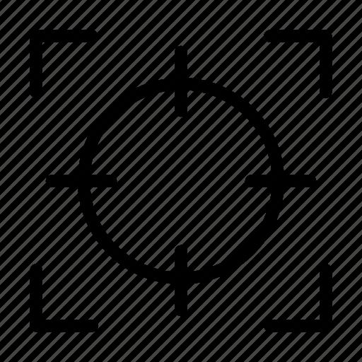 capture, crosshair, focus, goal, target icon