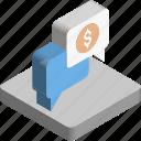 banking helpline, chat bubble, finance, financial chat, speech bubble icon