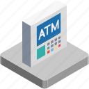 atm, atm machine, banking, cash line, cash point icon