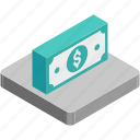 currency, currency stack, dollar, paper money, paper notes icon