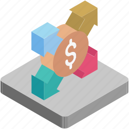 affiliate, affiliation, business, dollar, growth, network icon
