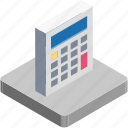 accounting, calculation, calculator, digital calculator, mathematics, maths, stationery icon