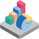 bar chart, bars, pie, pie chart, statistics icon