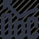 arrow, chart, data, diagram, left icon