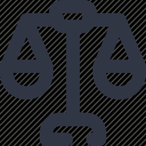 balance, equale, justice, libra, scales icon