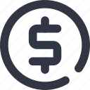 coin, coins, currency, dollar, money icon