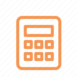 calculator, finance, line icon