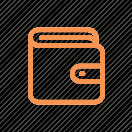 finance, line, wallet icon
