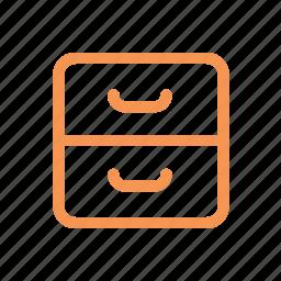 drawer, finance, line, money icon