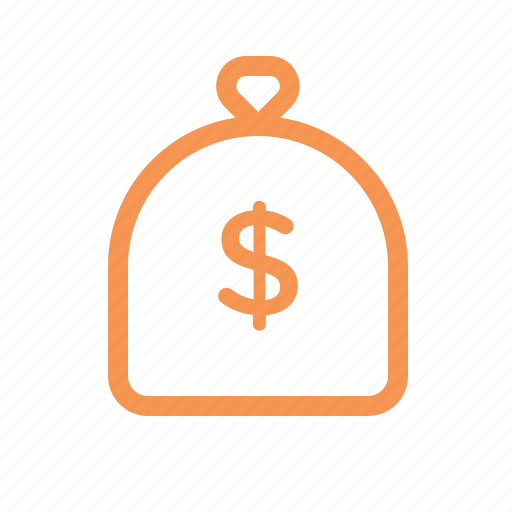 bag, finance, line, money icon