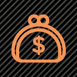 finance, line, money, pocket icon