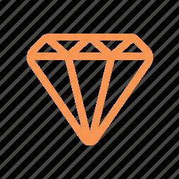 diamond, finance, line icon