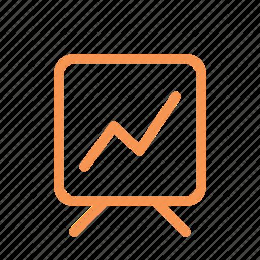 finance, graphic, line, stats icon