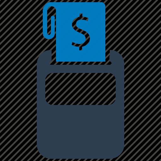 cashier, machine, receipt, tax icon
