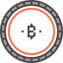 bitcoin, blockchain, coin, token icon