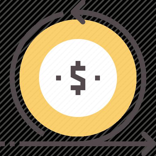 cash, flow, investment, return icon