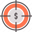 finance, financial, fund, goal, target icon